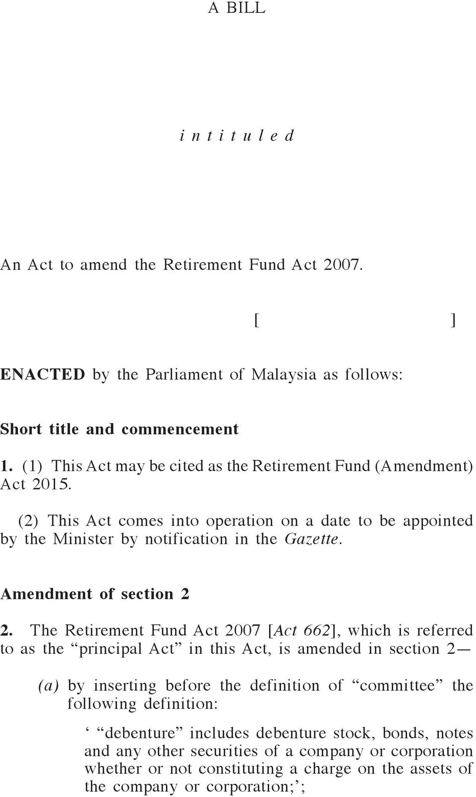 Amendment of section 2 2.