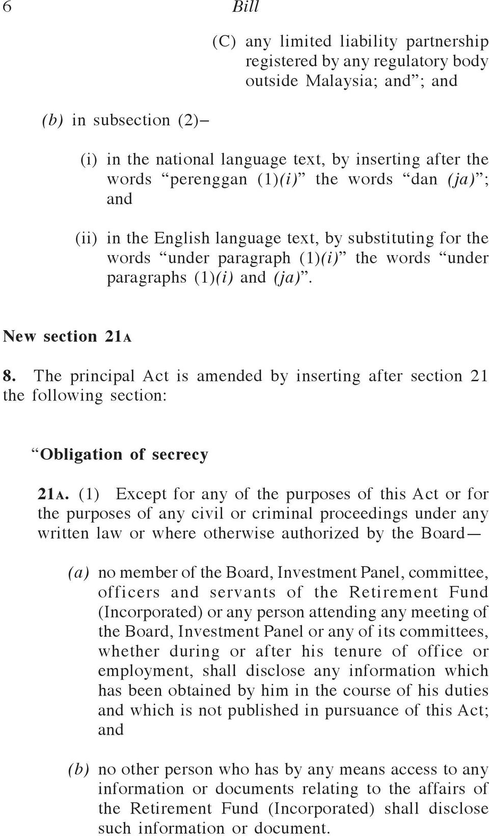 The principal Act is amended by inserting after section 21 the following section: Obligation of secrecy 21a.