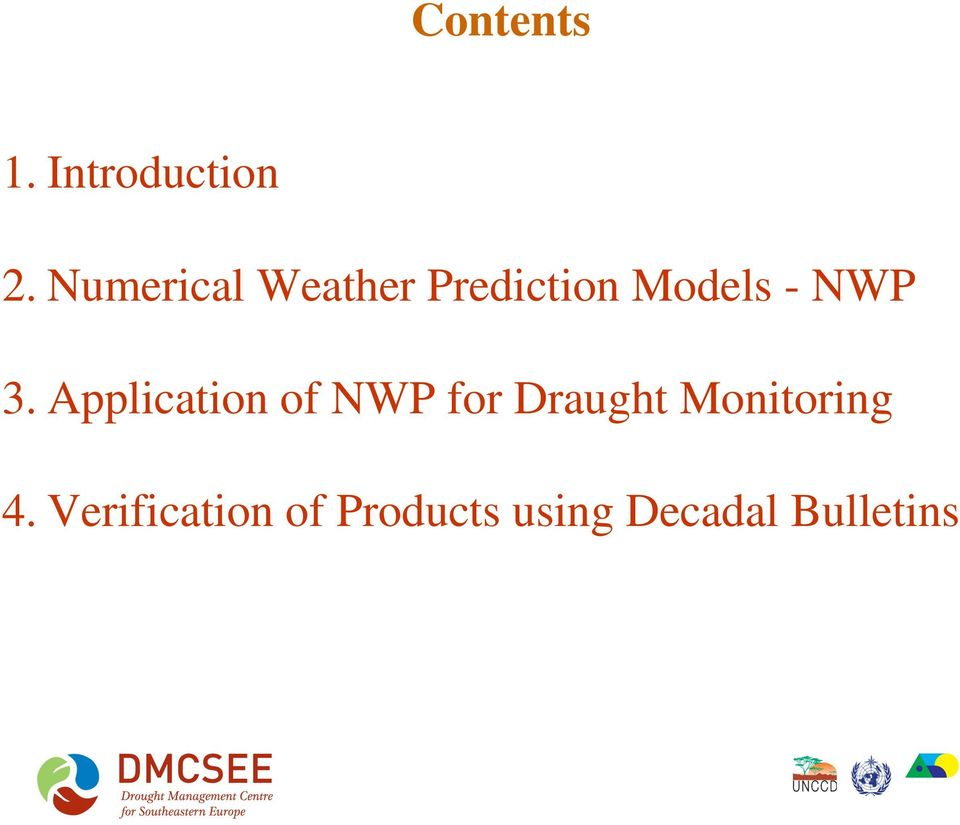 3. Application of NWP for Draught