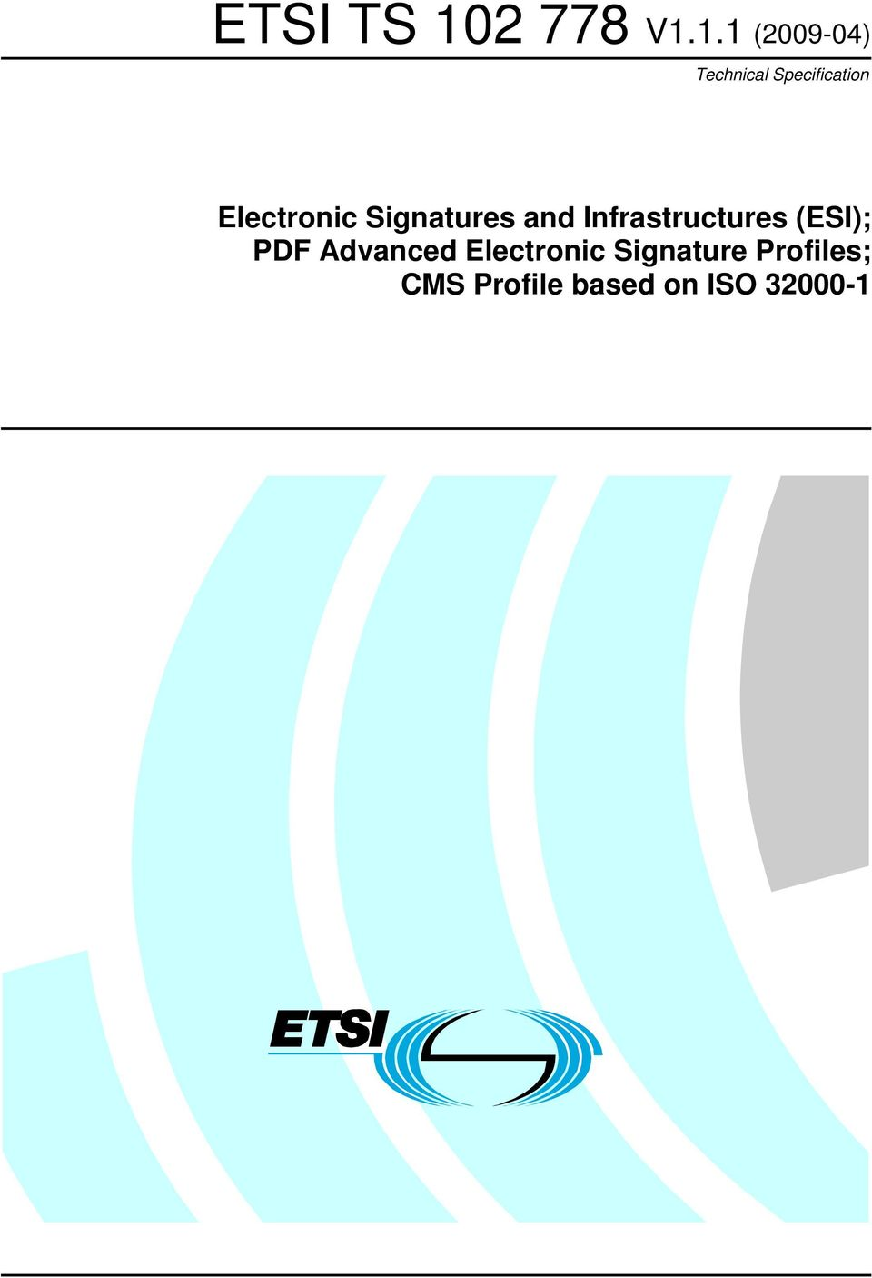 Infrastructures (ESI); PDF Advanced