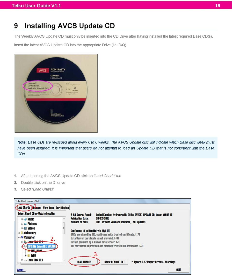 CD(s). Insert the latest AVCS Update CD into the appropriate Drive (i.e. D/Q) Note: Base CDs are re-issued about every 6 to 8 weeks.