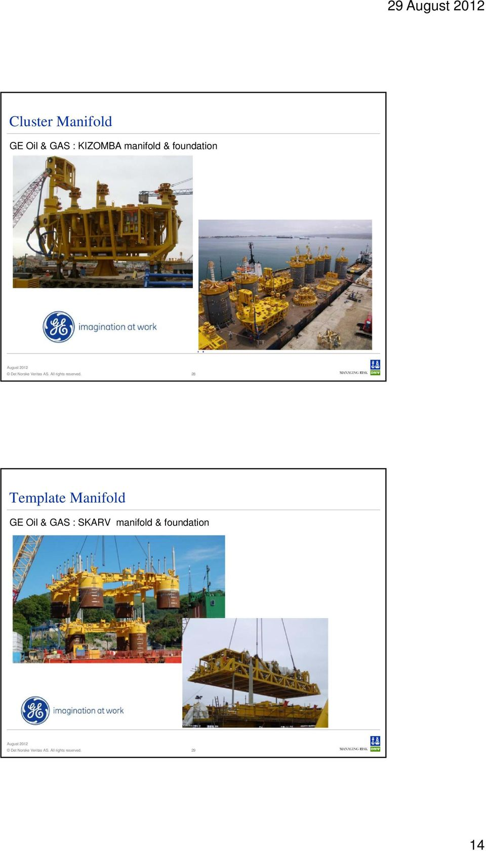 28 Template Manifold GE Oil & GAS