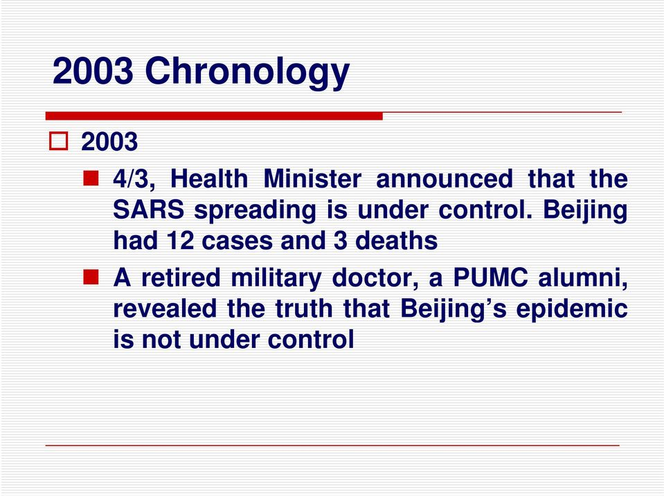 Beijing had 12 cases and 3 deaths A retired military