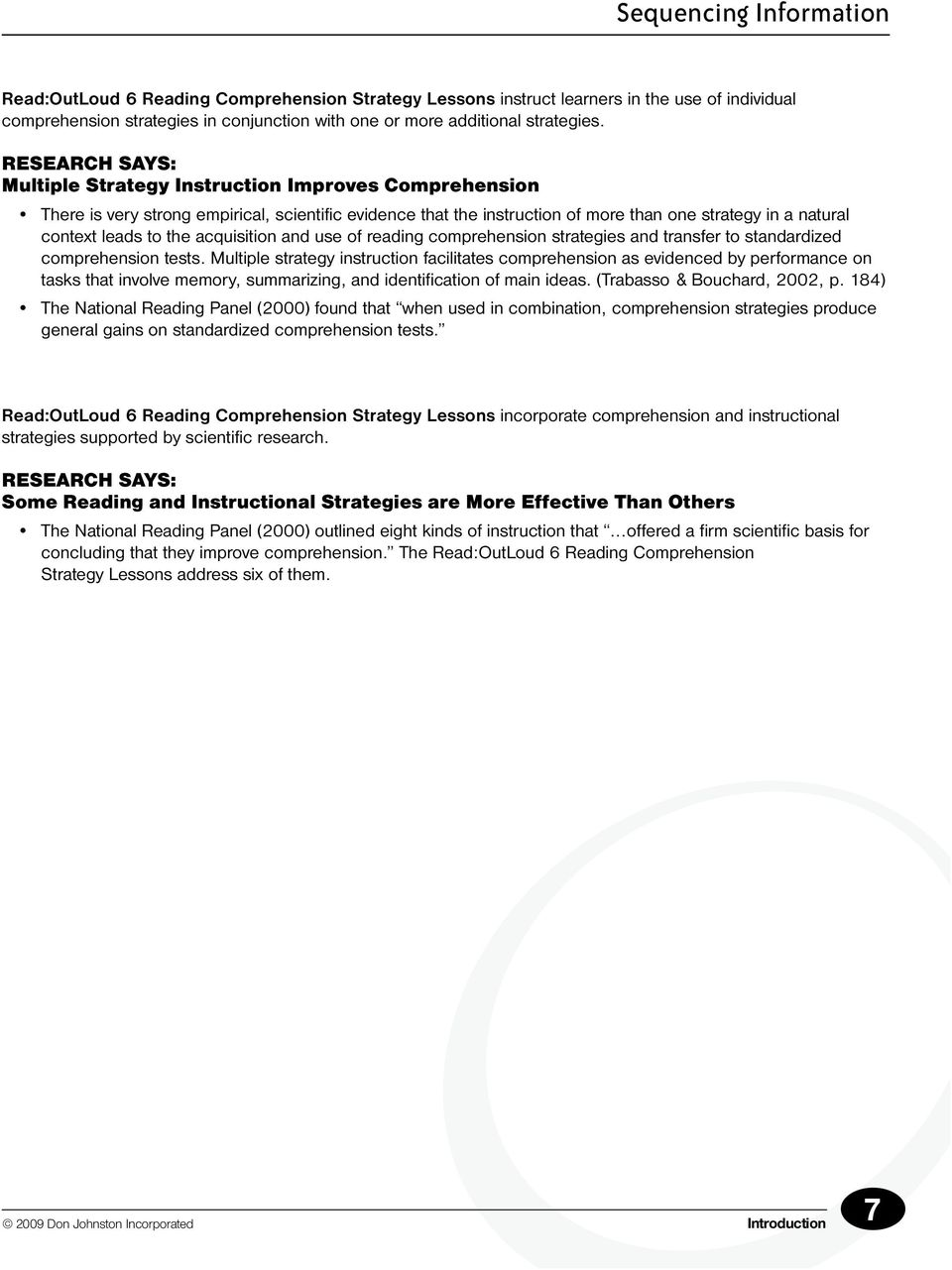 Reading Strategies Sequencing Information Pdf