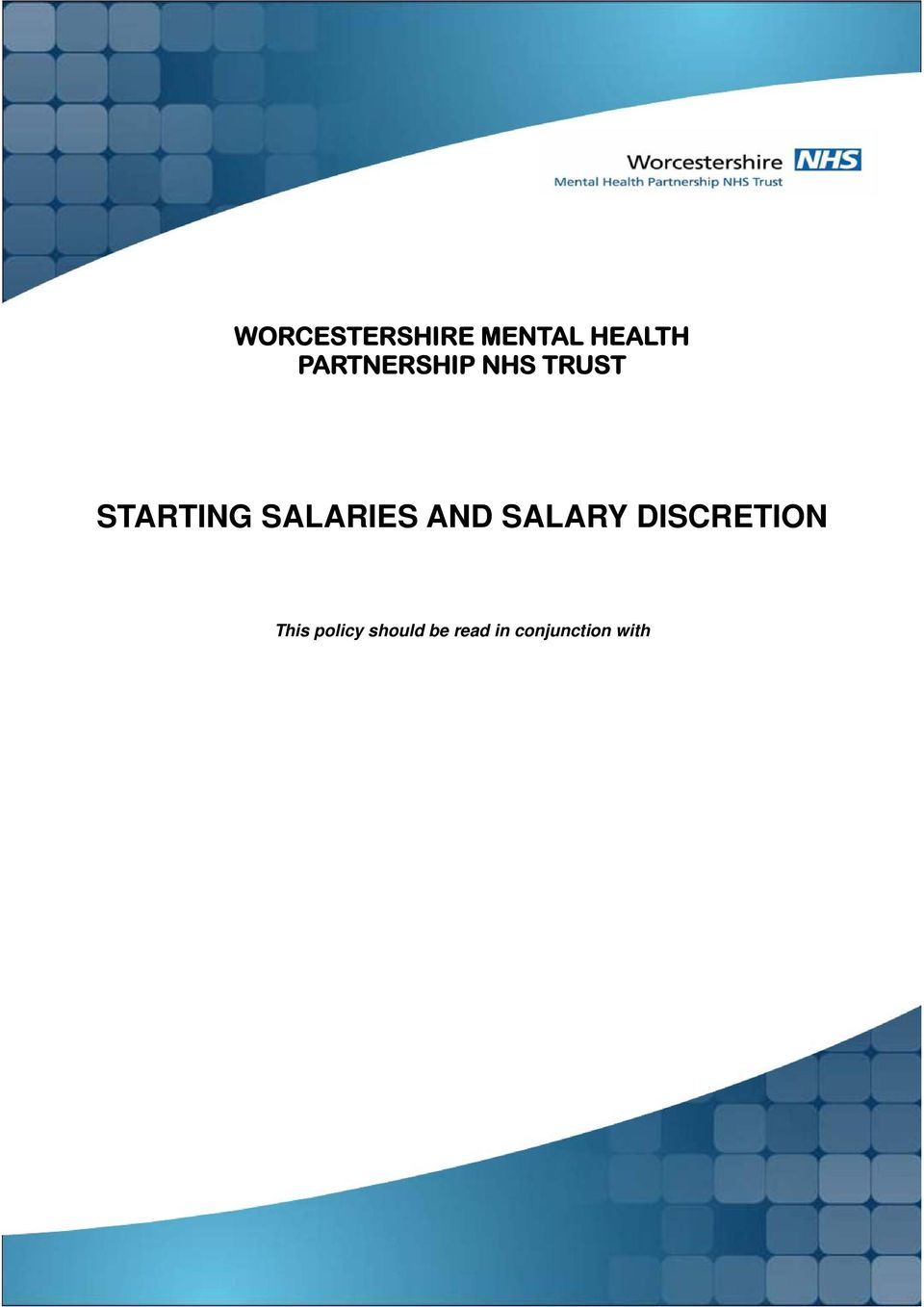SALARIES AND SALARY DISCRETION