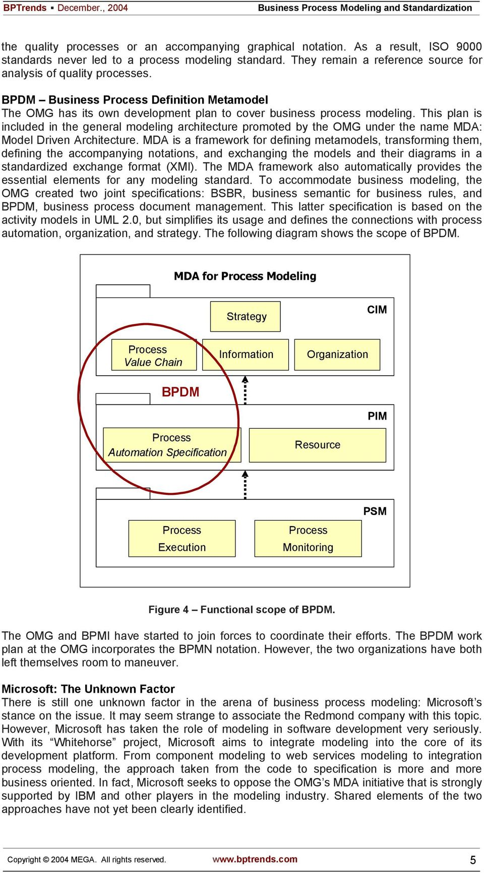 This plan is included in the general modeling architecture promoted by the OMG under the name MDA: Model Driven Architecture.