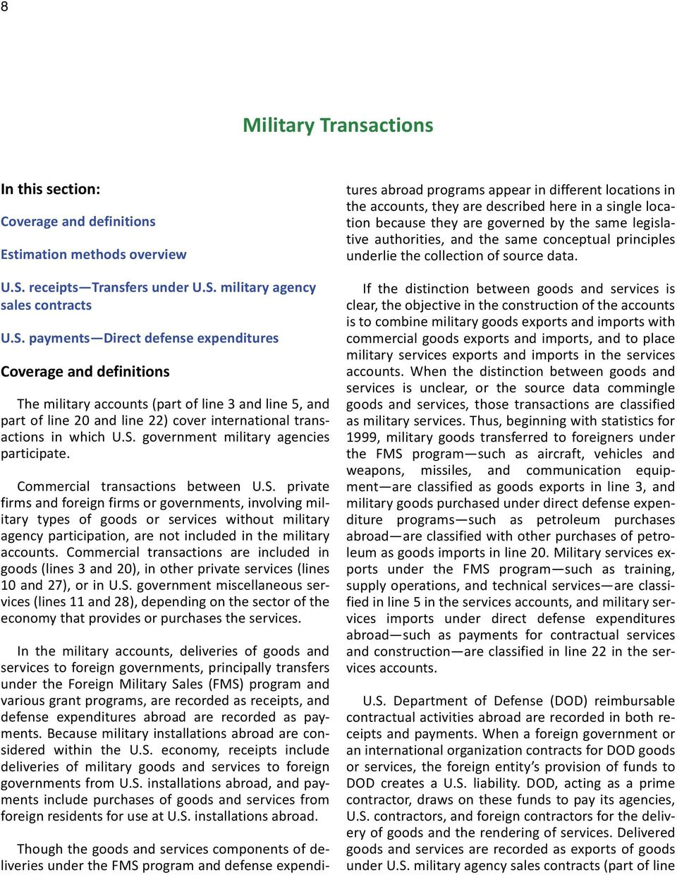military agency sales contracts U.S.