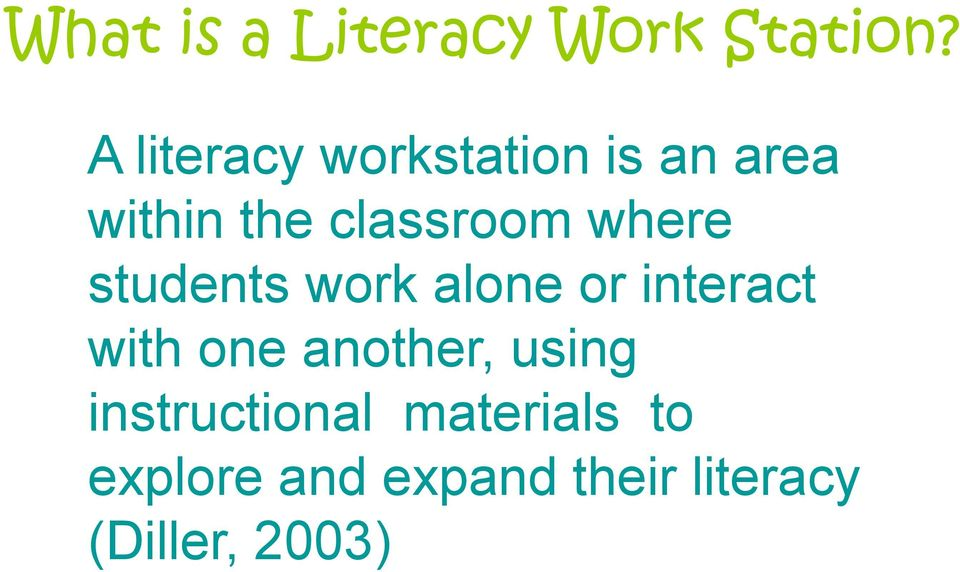 where students work alone or interact with one another,