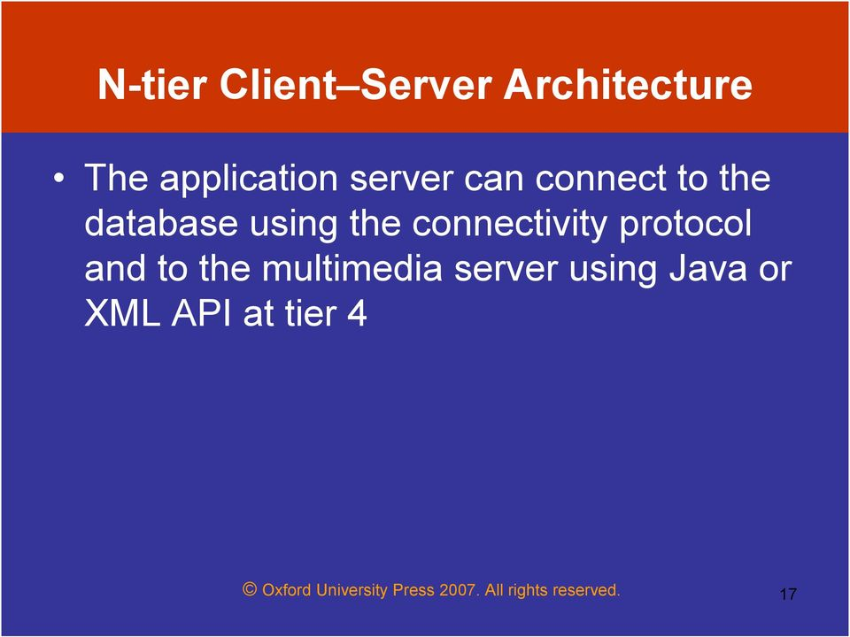 protocol and to the multimedia server using Java or XML
