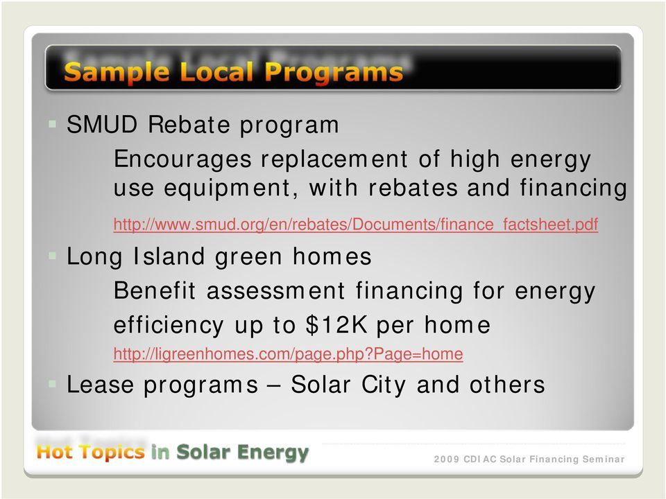 pdf Long Island green homes Benefit assessment financing for energy efficiency up to