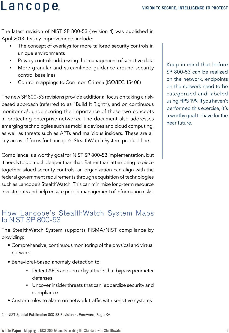 Mapping to NIST and Exceeding the Standard with StealthWatch - PDF