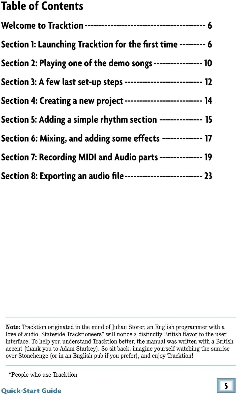 TRACKTION 3 MUSIC PRODUCTION SOFTWARE - PDF