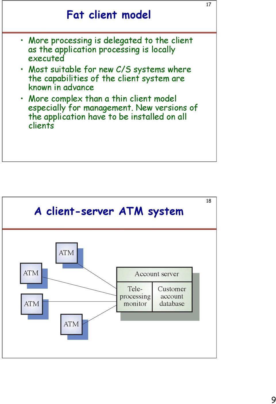 than a thin client model especially for management.