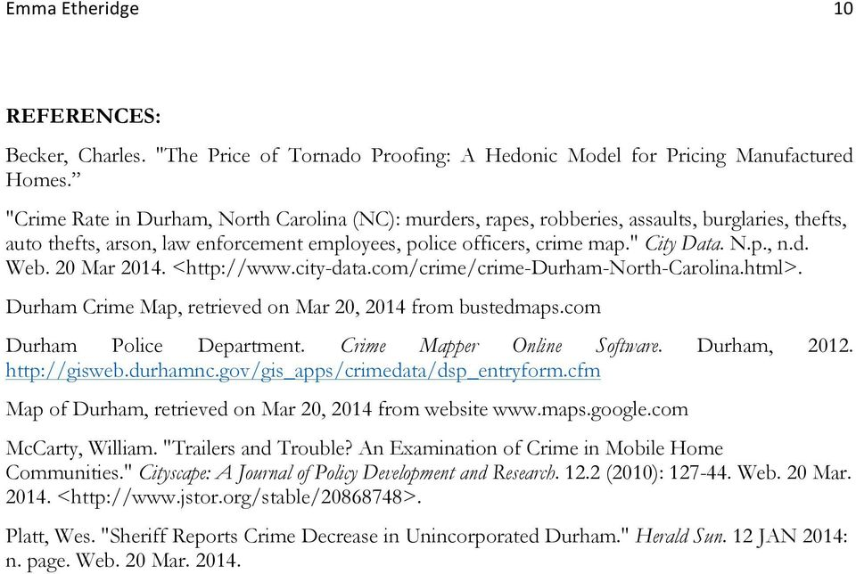 Crime In Mobile Home Communities In Durham Nc Pdf