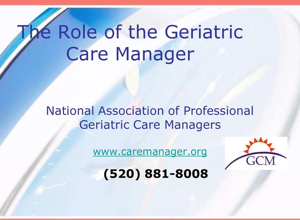 Professional Geriatric Care