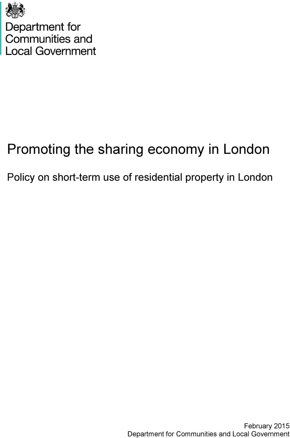 property in London February 2015