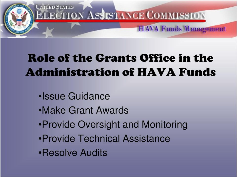 Guidance Make Grant Awards Provide