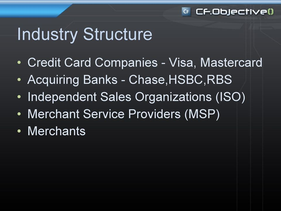 Chase,HSBC,RBS Independent Sales