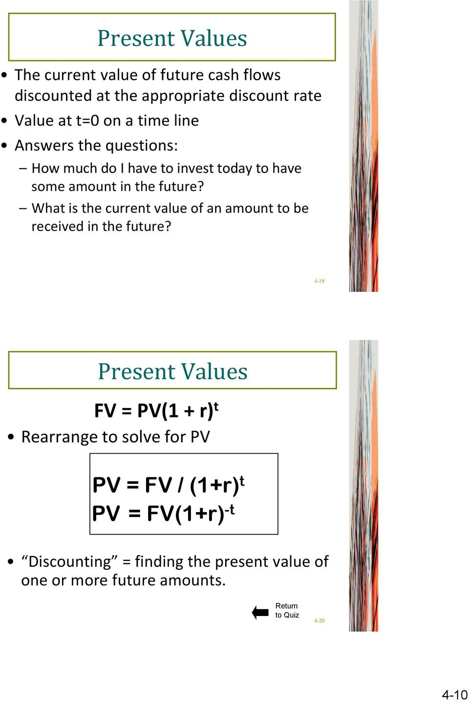 What is the current value of an amount to be received in the future?