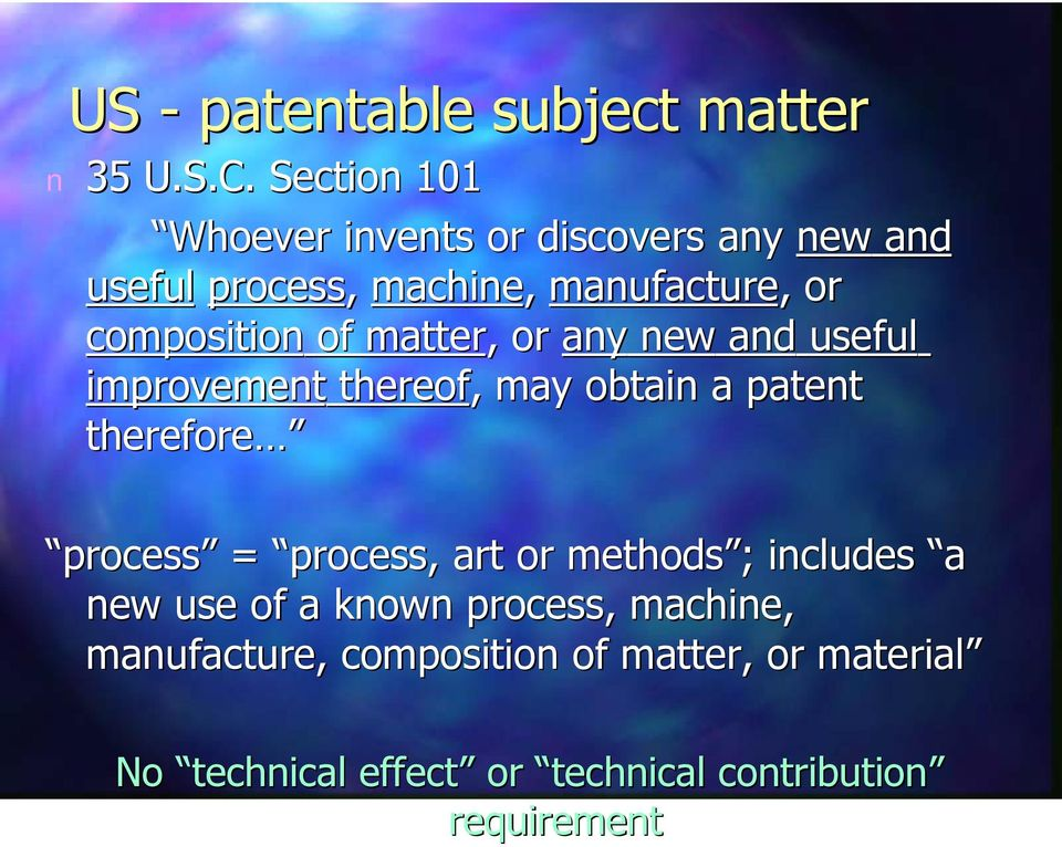 of matter, or ay ew ad useful improvemet thereof, may obtai a patet therefore process = process,