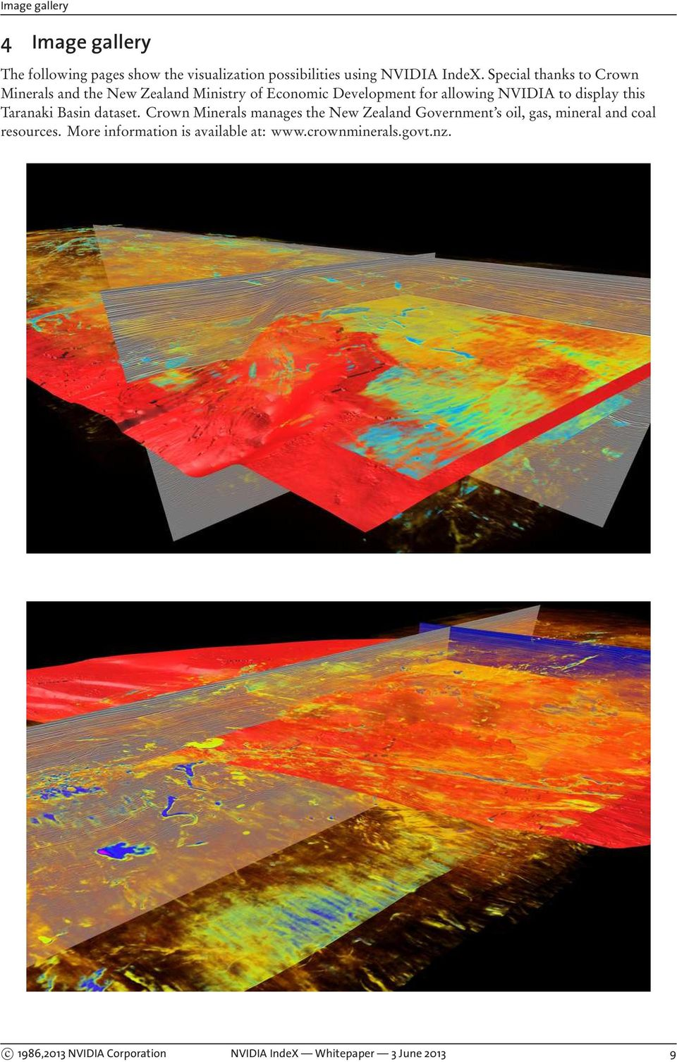this Taranaki Basin dataset. Crown Minerals manages the New Zealand Government s oil, gas, mineral and coal resources.