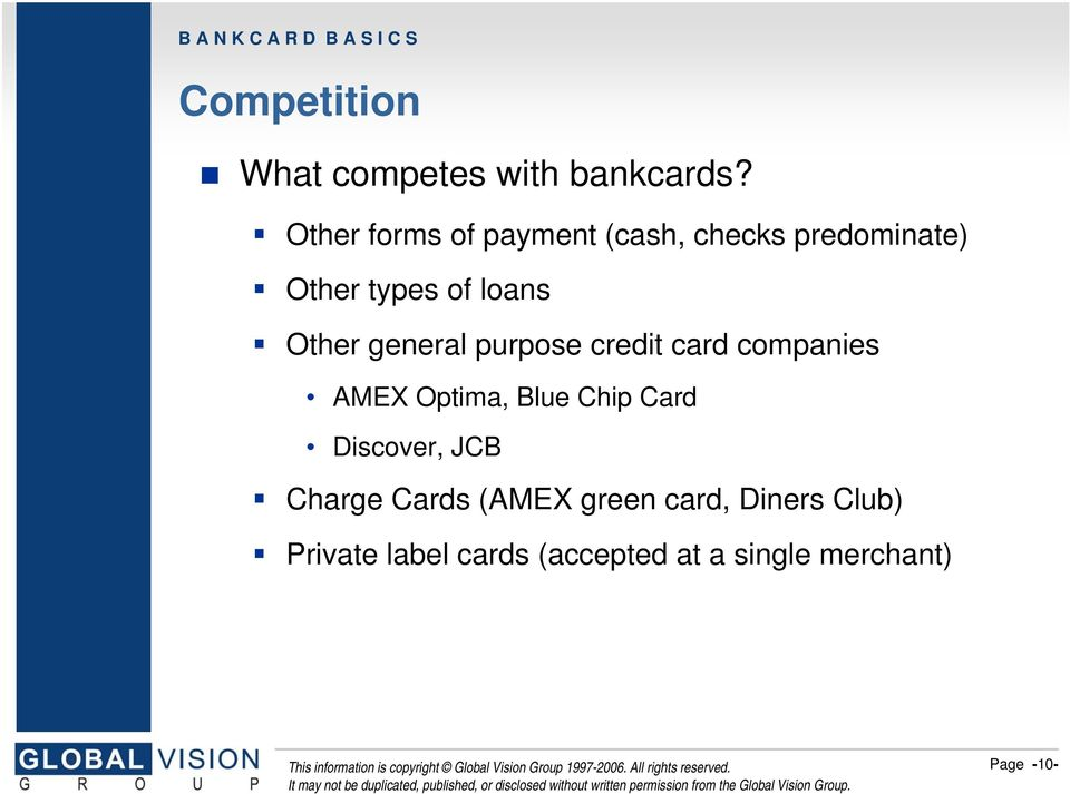 Introduction to Bankcard Basics - PDF