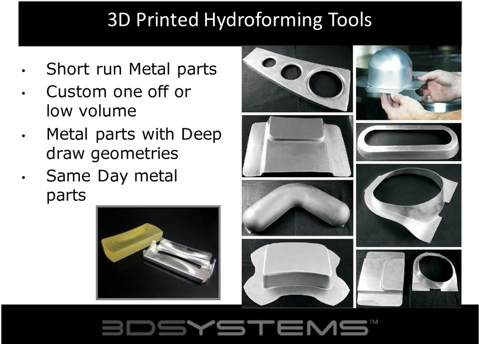off or low volume Metal parts with
