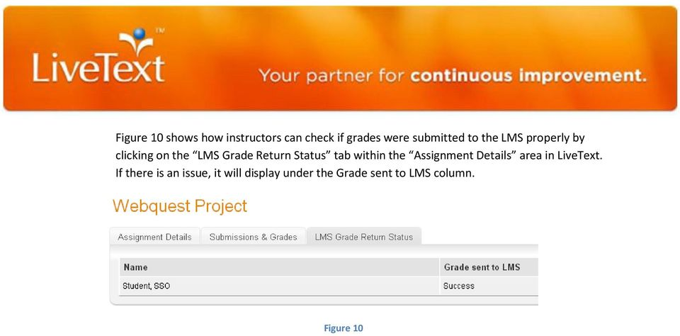within the Assignment Details area in LiveText.