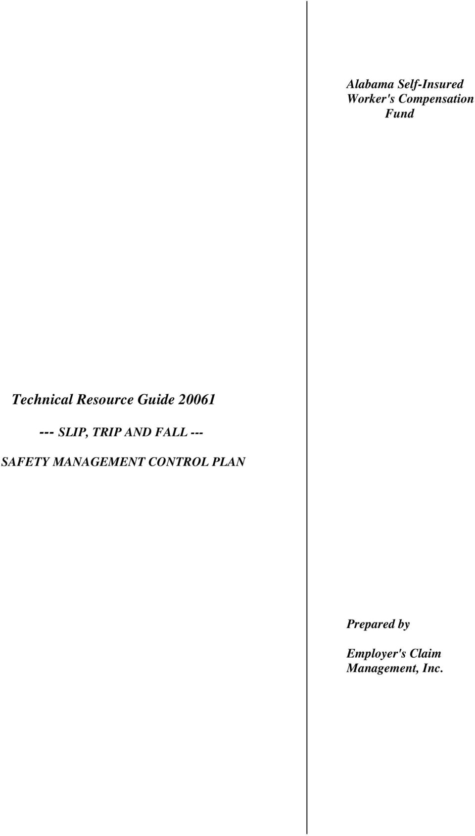 TRIP AND FALL --- SAFETY MANAGEMENT CONTROL