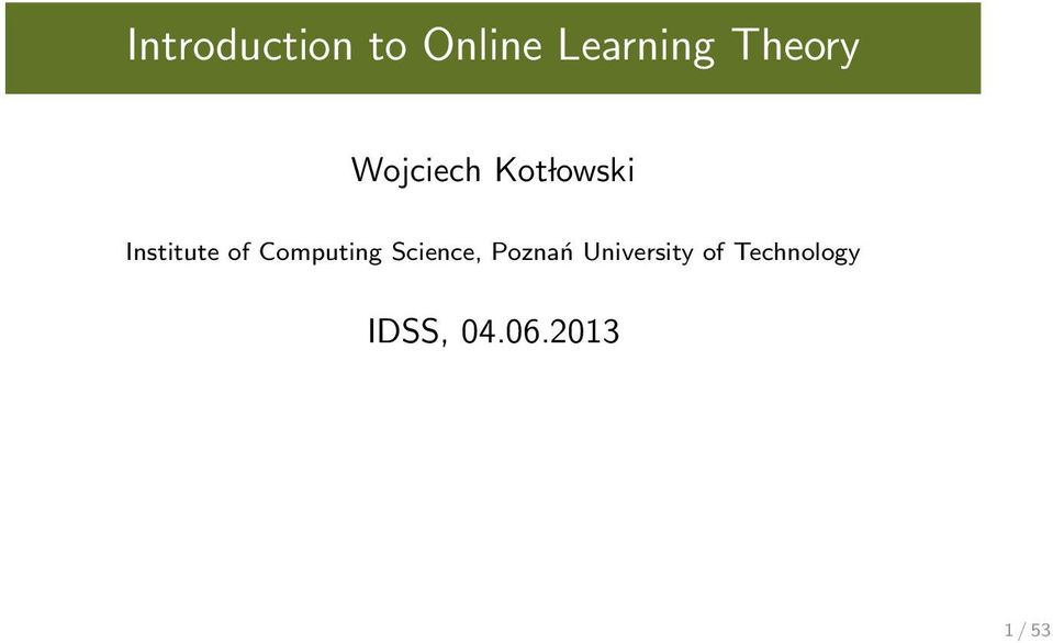 of Computing Science, Poznań