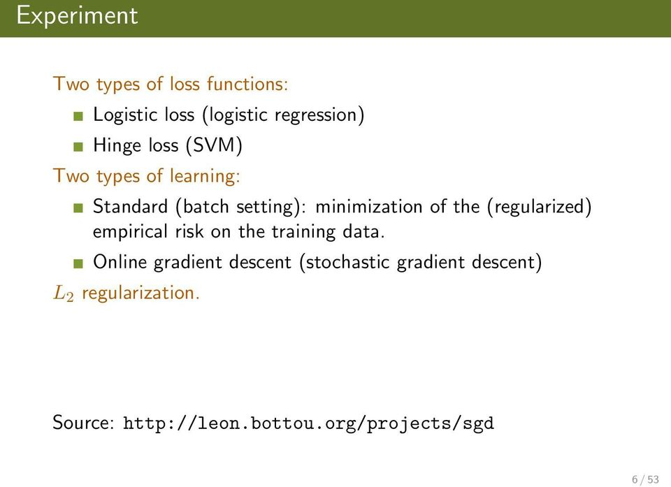 (regularized) empirical risk on the training data.