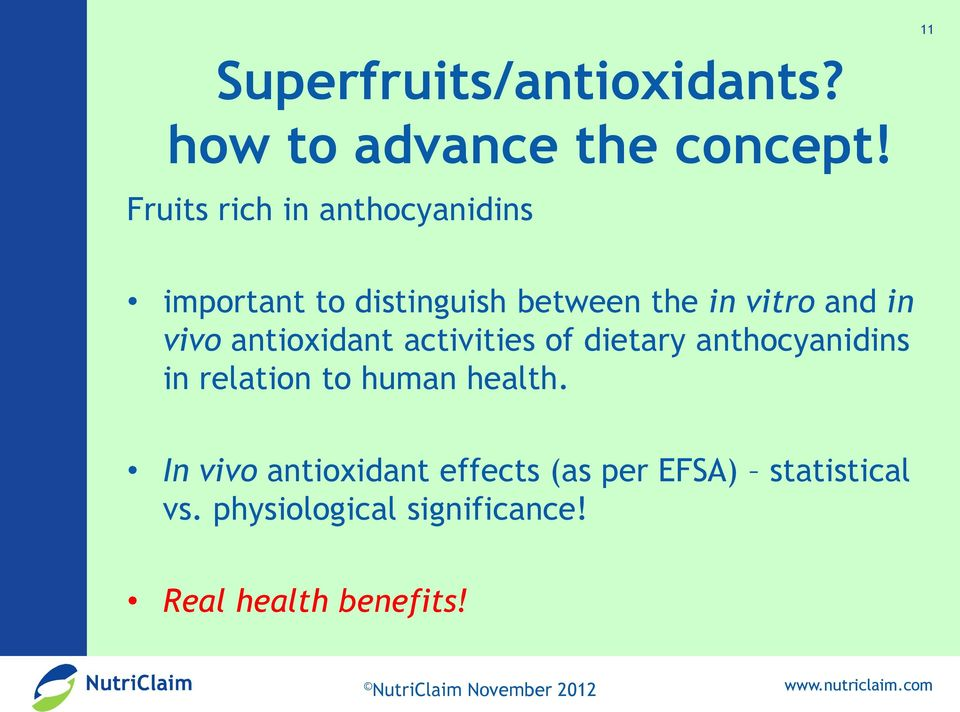 vivo antioxidant activities of dietary anthocyanidins in relation to human health.