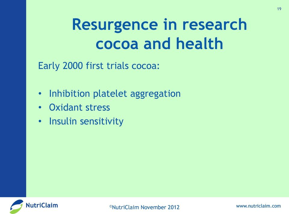 cocoa: Inhibition platelet