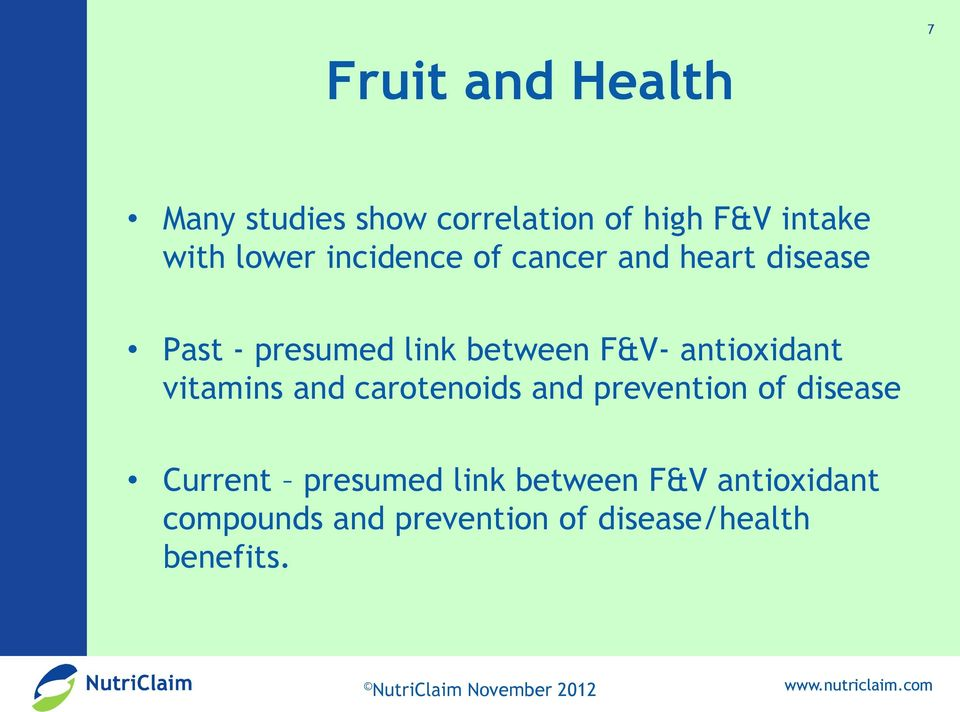 antioxidant vitamins and carotenoids and prevention of disease Current