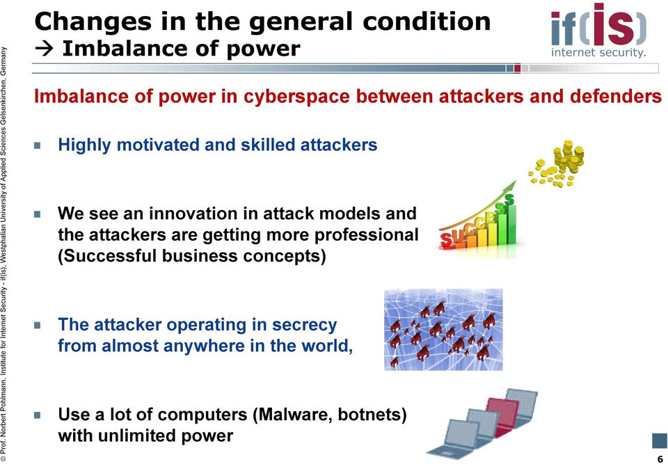and the attackers are getting more professional (Successful business concepts) The attacker operating
