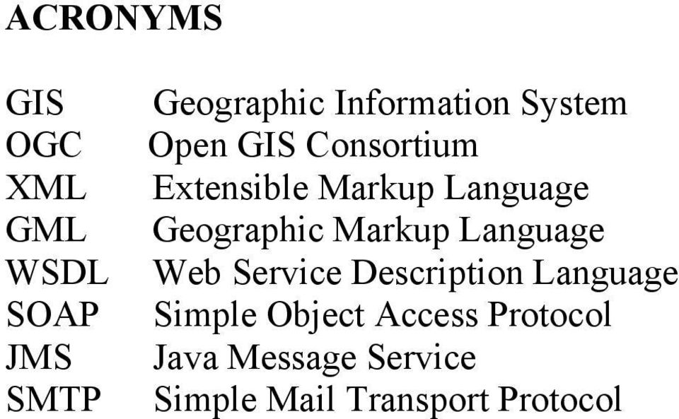Geographic Markup Language Web Service Description Language