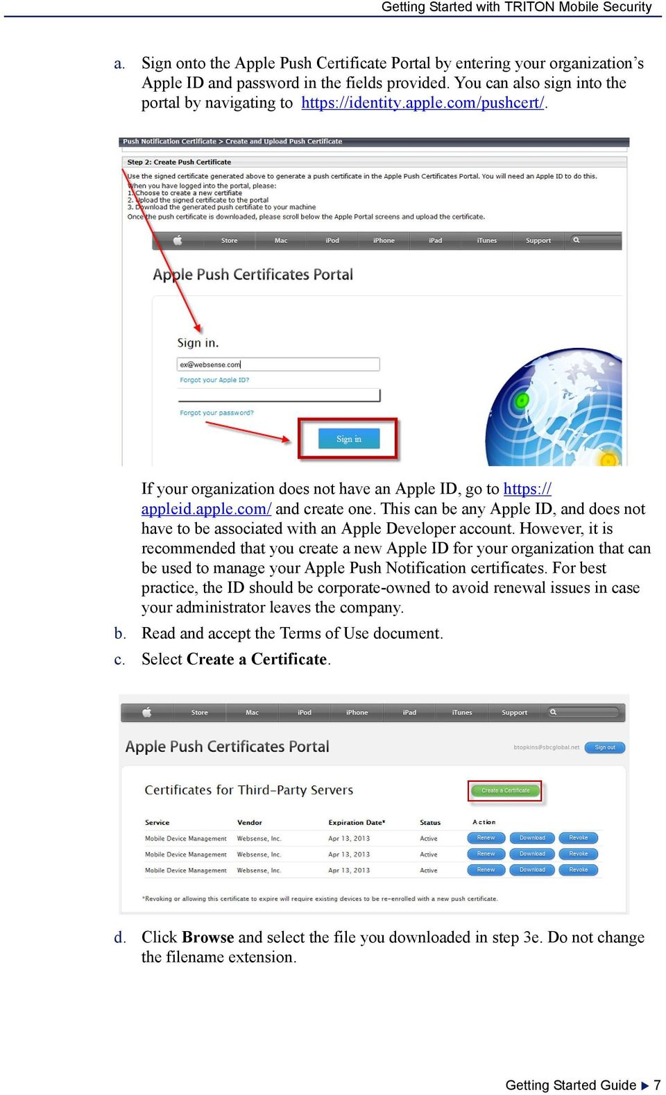 This can be any Apple ID, and does not have to be associated with an Apple Developer account.