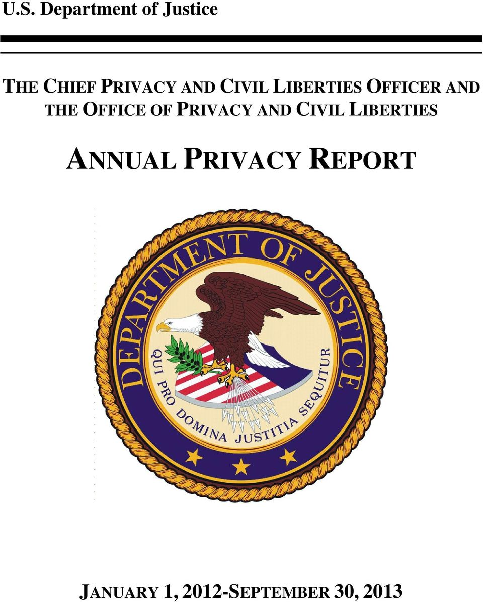 PRIVACY AND CIVIL LIBERTIES ANNUAL