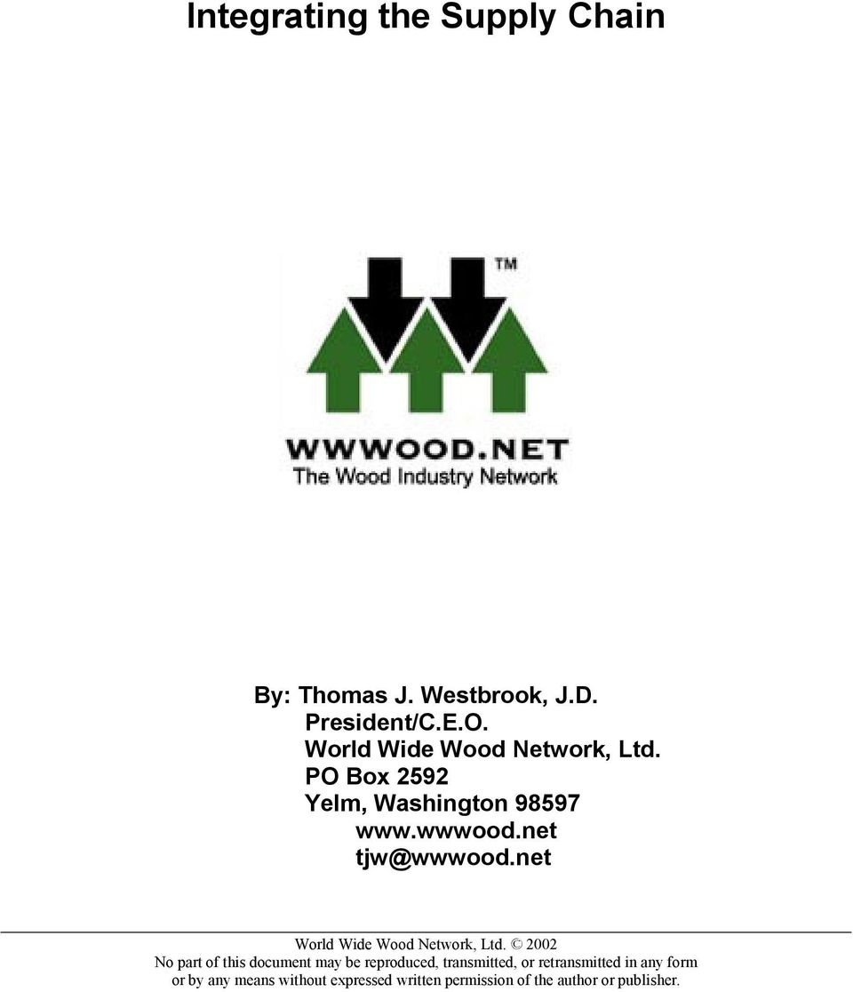 net World Wide Wood Network, Ltd.