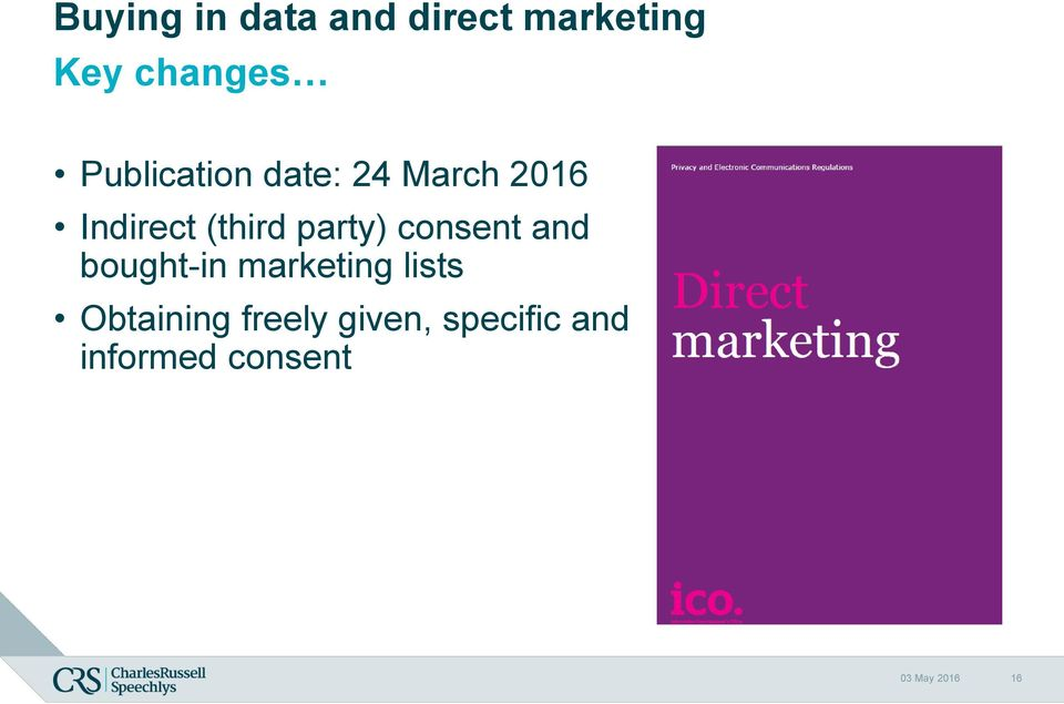party) consent and bought-in marketing lists
