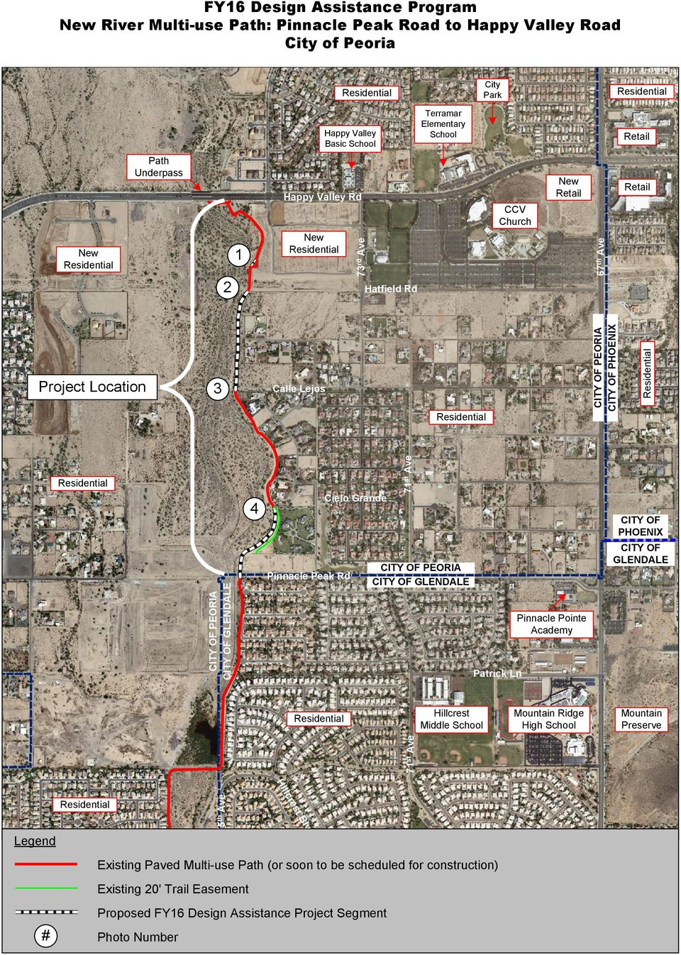Rd Cielo Grande 71 st Ave CITY OF PEORIA CITY OF GLENDALE Patrick Ln Pinnacle Pointe Academy CITY OF PHOENIX CITY OF GLENDALE Hillcrest Middle School Mountain Ridge High School Mountain Preserve 71