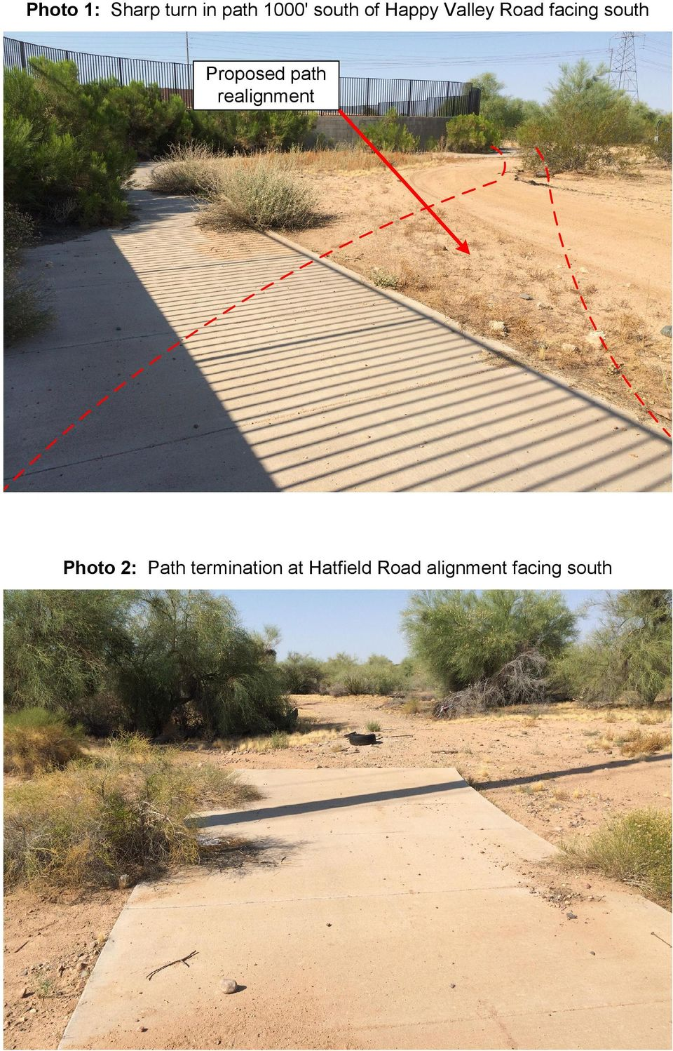 Proposed path realignment Photo 2: Path