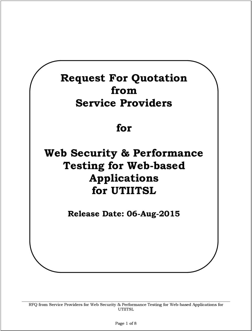 Performance Testing for Web-based