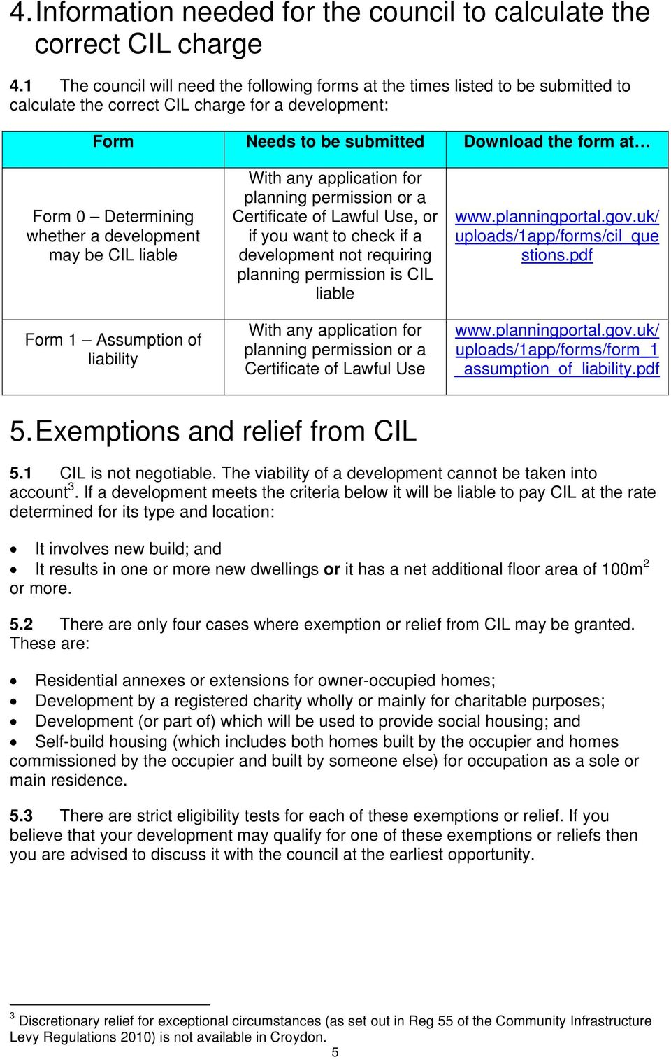 a may be CIL liable Form 1 Assumption of liability With any application for planning permission or a Certificate of Lawful Use, or if you want to check if a not requiring planning permission is CIL