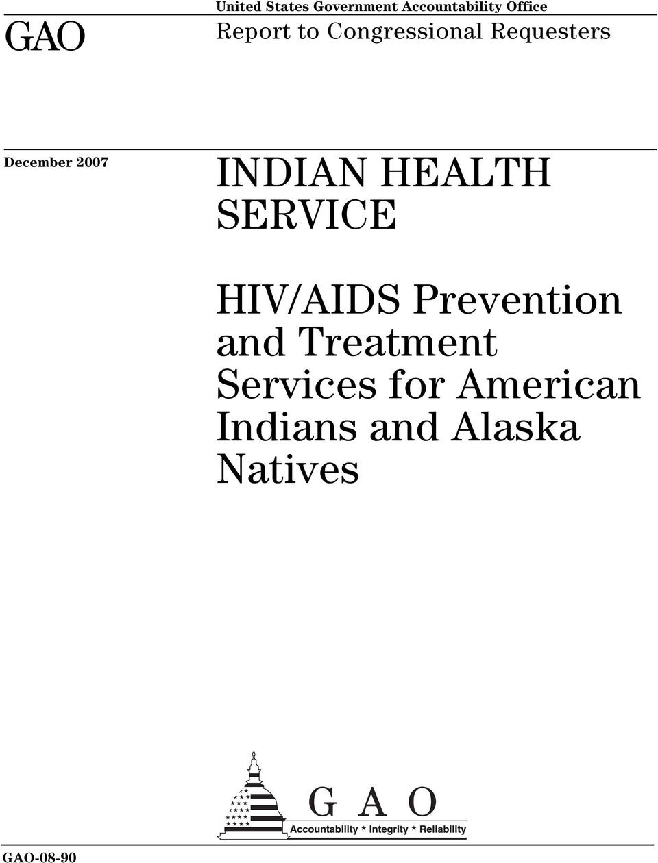 INDIAN HEALTH SERVICE HIV/AIDS Prevention and