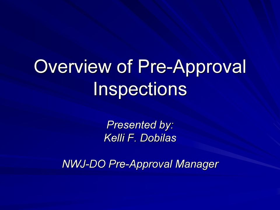 Inspections Presented