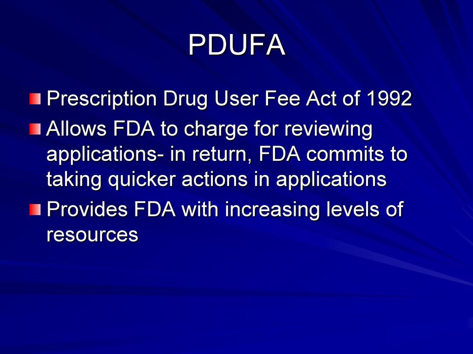 return, FDA commits to taking quicker actions in