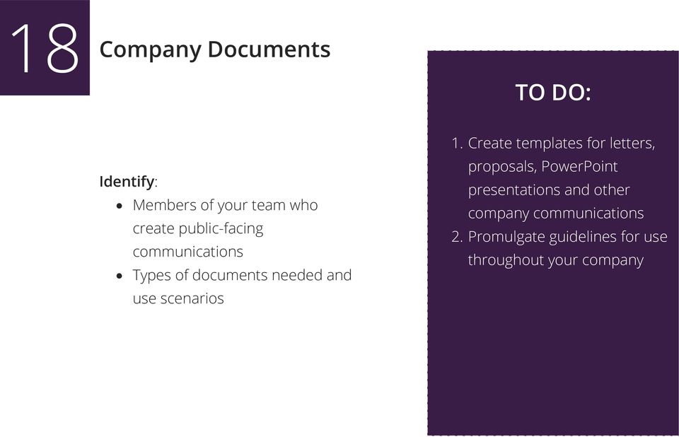 Create templates for letters, proposals, PowerPoint presentations and