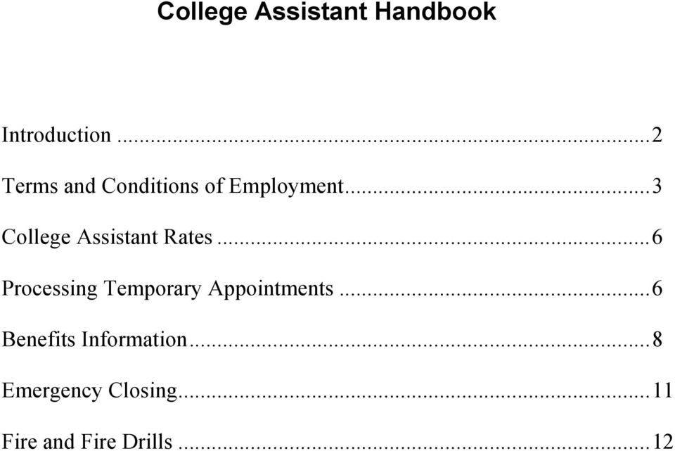 ..3 College Assistant Rates.
