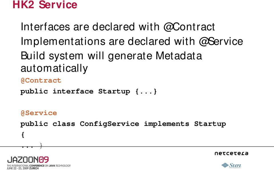 generate Metadata automatically @Contract public interface